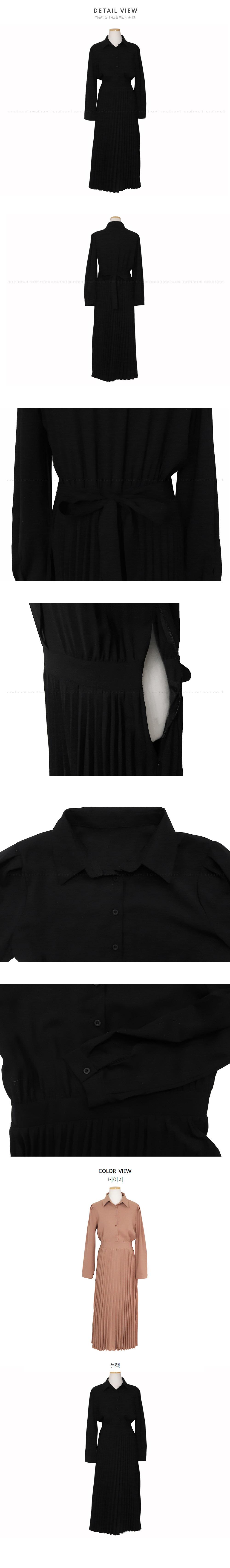 * Delayed Wear * Thanks Sale ♥ Latte Pleats Long ops-2color