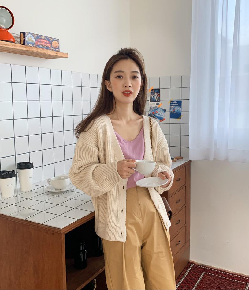 Fudge bongbong soft cardigan_P