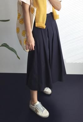 Bebe cotton pleated skirt