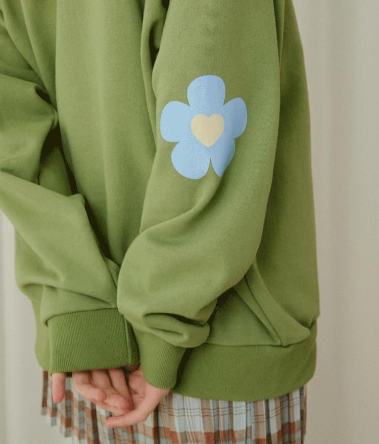 Heart Combination Sweat Shirt (Green)