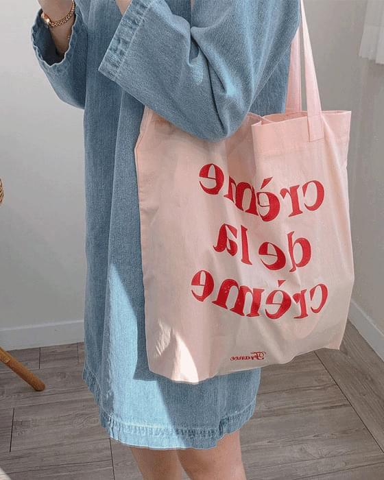 Cream Eco Bag-2color 帆布包