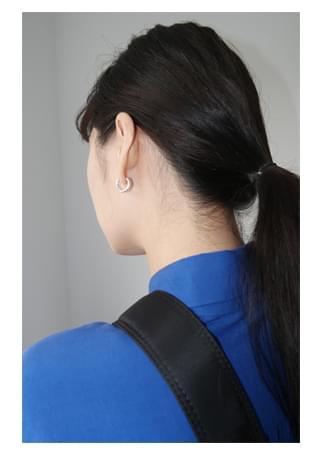 韓國空運 - daily silver hoop earrings 耳環