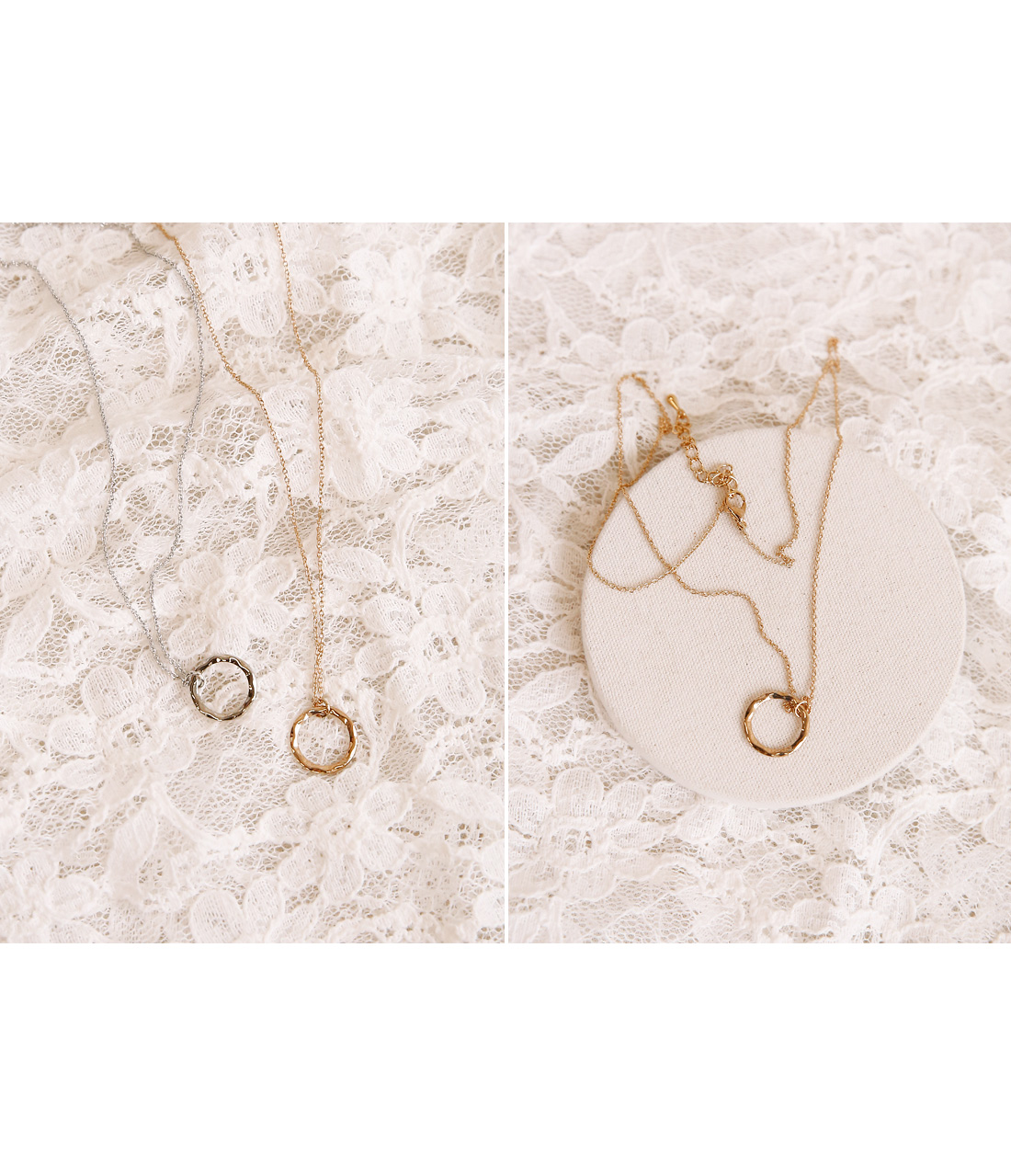 ALLEN WAVE O RING NECKLACE