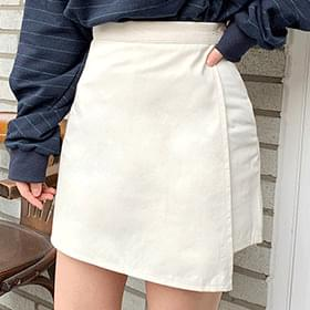 Sued cotton skirt