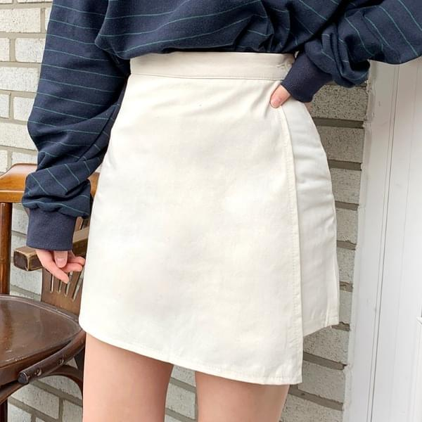 Sued cotton skirt skirt