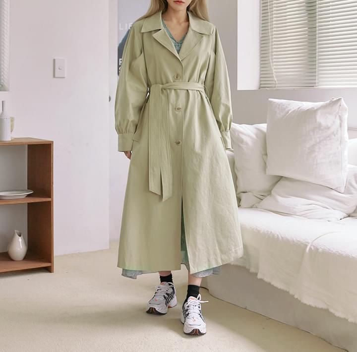 MERDI PUFF TRENCH COAT coat