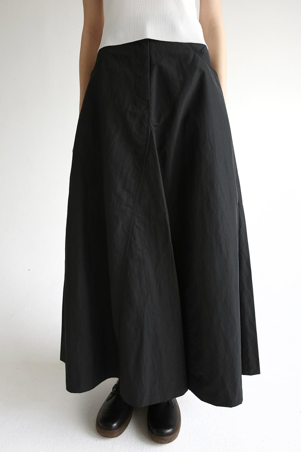 poplin long-length skirt (2colors)