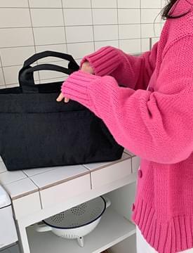Basket simple nylon tote bag_U 托特包