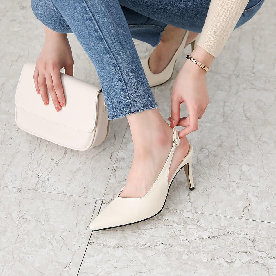 Troel Slingback Stiletto High Heels 9cm