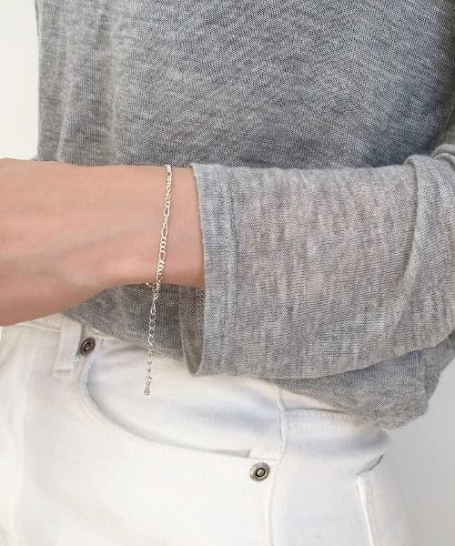 (silver925) mix chain bracelet