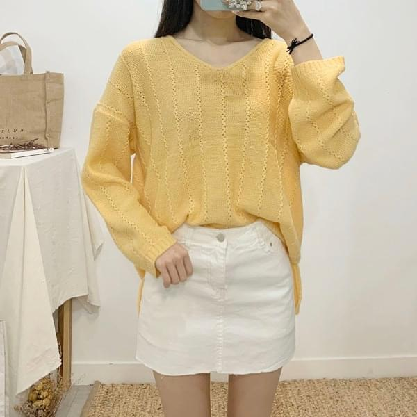 Park Me V-neck Long Sleeve Knit