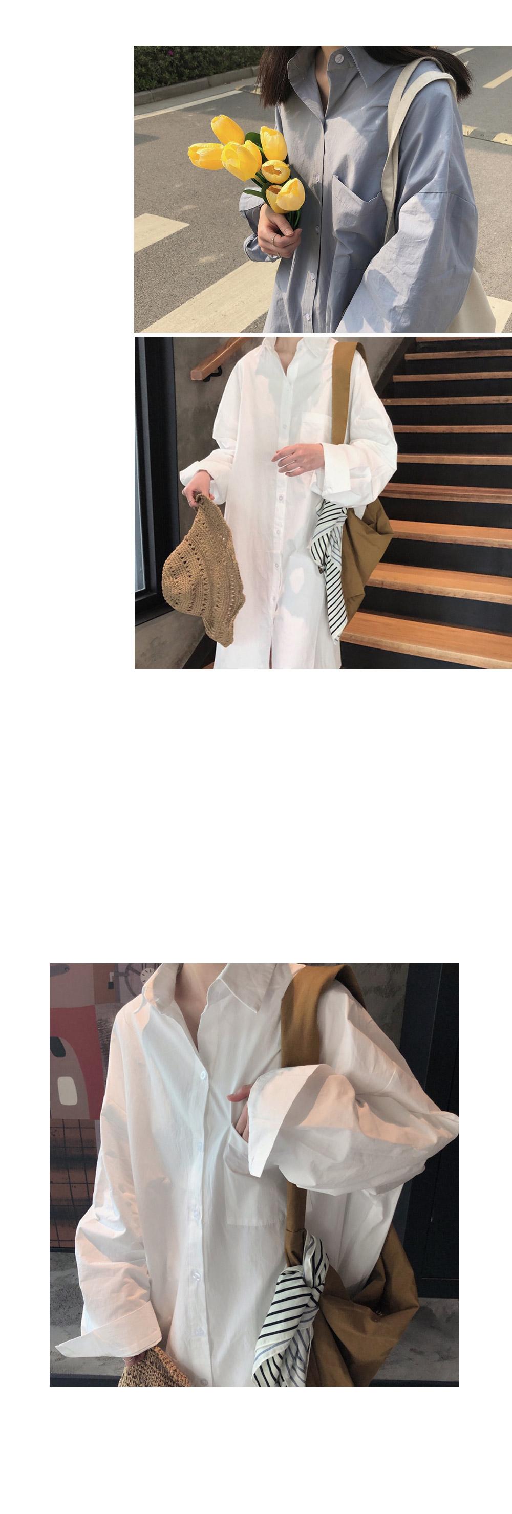 크로아 롱 박스 셔츠