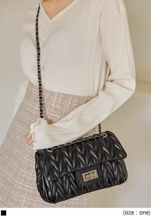 VOVO QUILTING CHAIN LEATHER BAG 肩背包