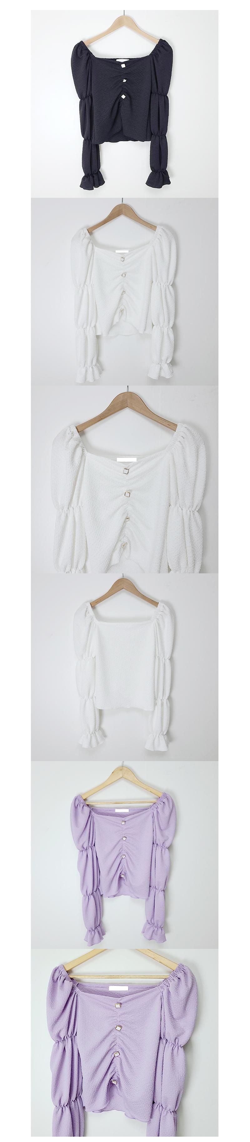 홀리 셔링 숄더 블라우스(3color)