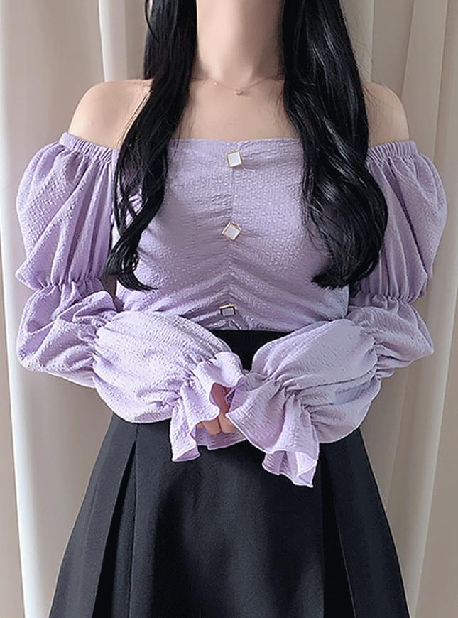 Holly Shirring Shoulder Blouse