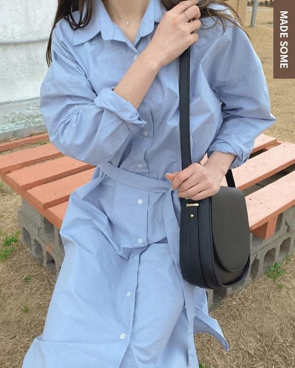 韓國空運 - #made some billy belt long shirt dress 洋裝