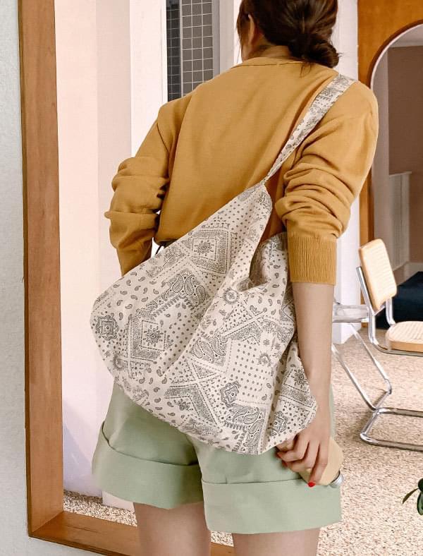Paisley pattern cotton eco bag 帆布包