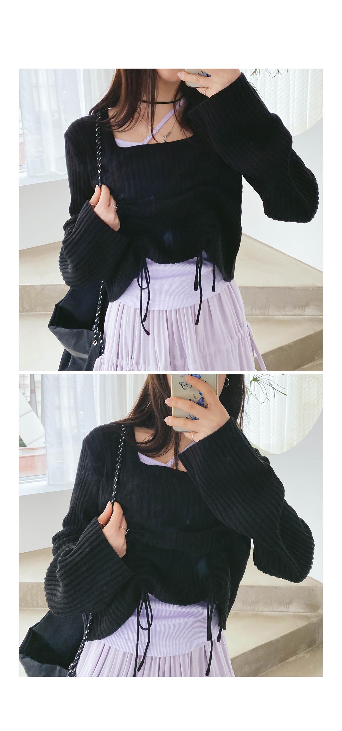 String Gela Crop Knit