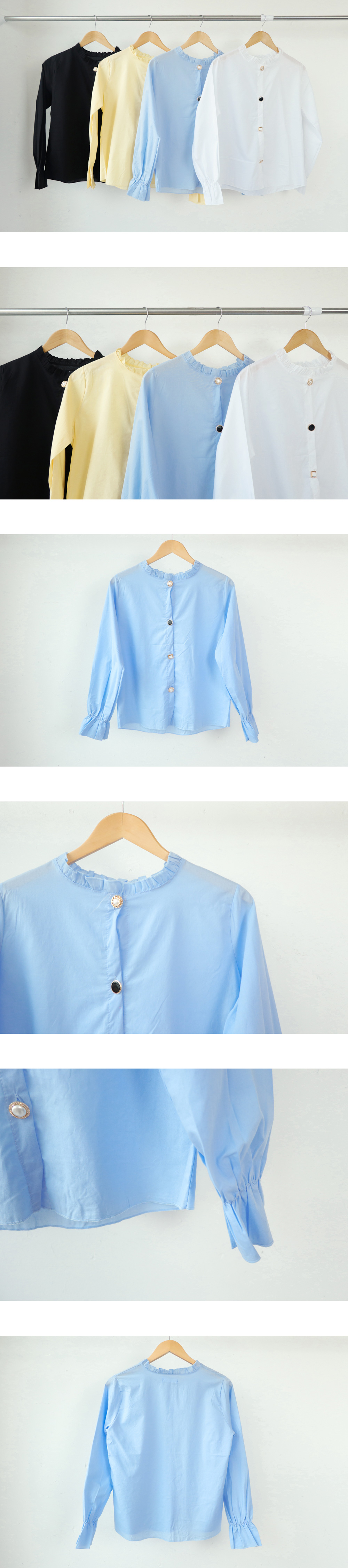 Darjeeling Jewel Button Blouse
