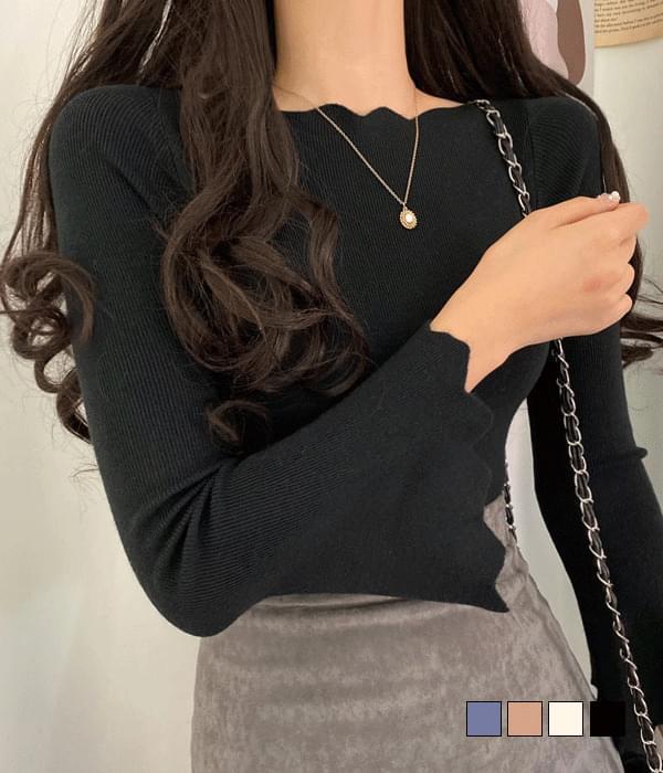 Sleeve wide wave knit 針織衫