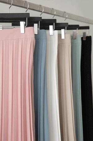 《Planned Products》 Spring Season Color Pleated Skirt