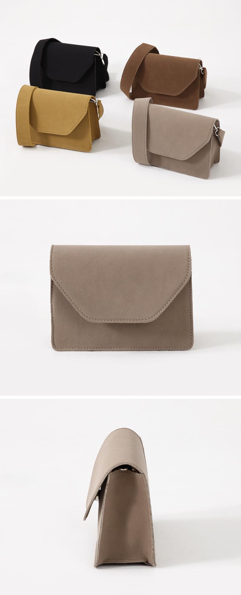 Brown sugar square flap bag_C (size : one)