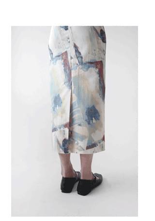 watercolor H-line skirt スカート