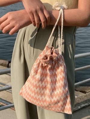 Zigzag pattern mini-reproduction bag 帆布包