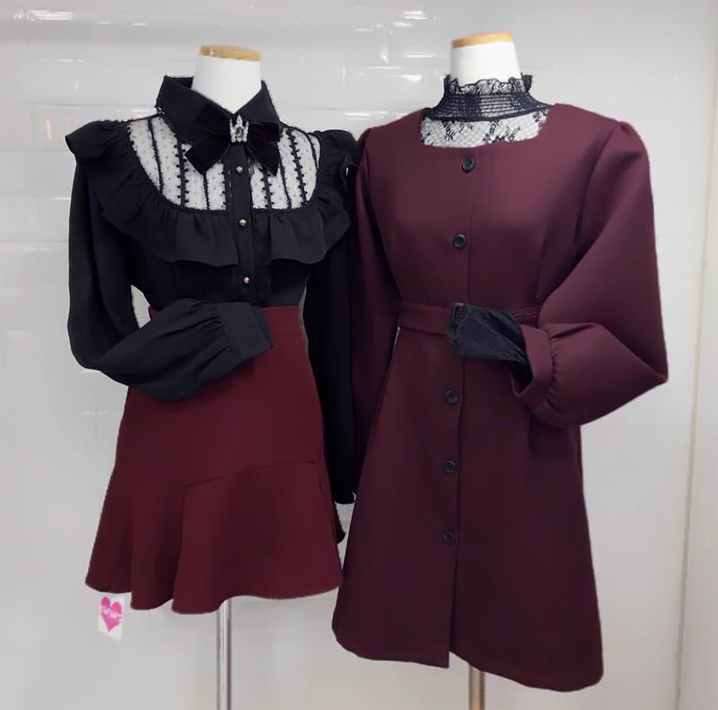 Self-made ♥ belt set Someday Square Dress