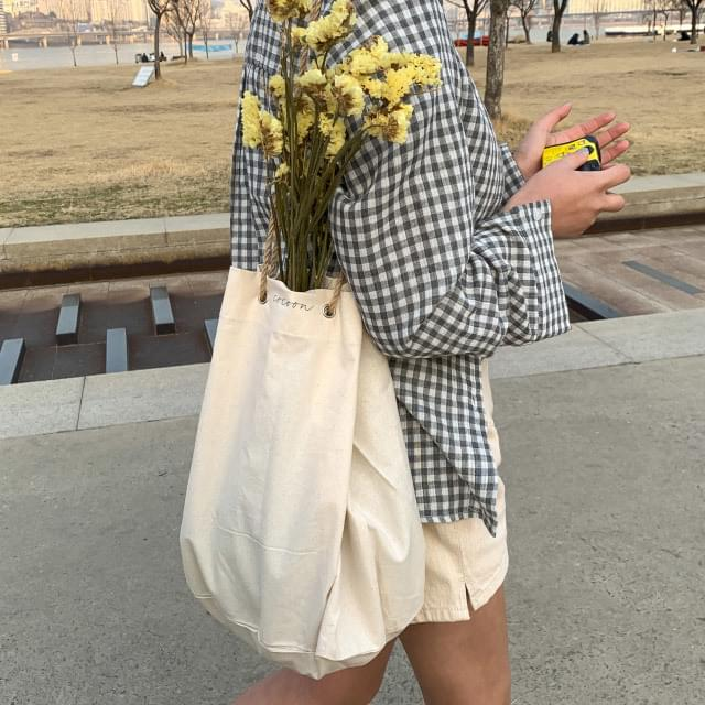 Daily rope strap cotton bag 肩背包