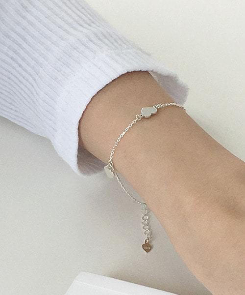 (silver925) heart charm bracelet