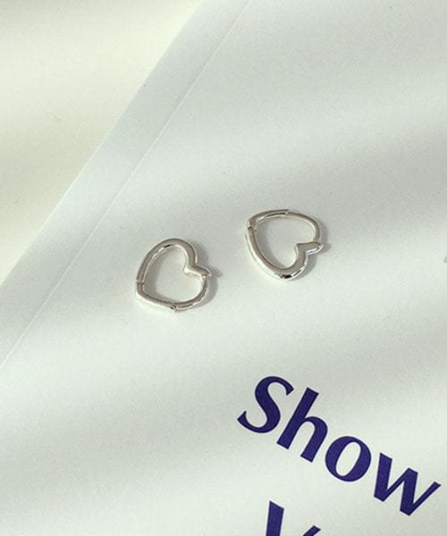 (silver925) sweety onetouch earring