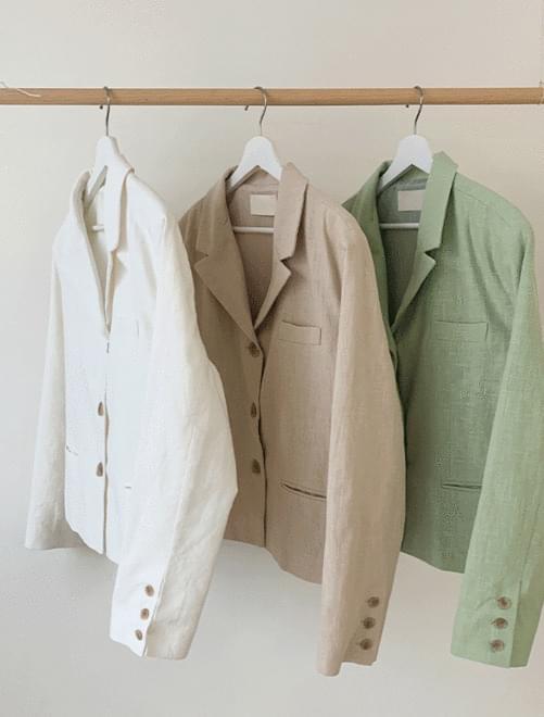 Cream linen jacket