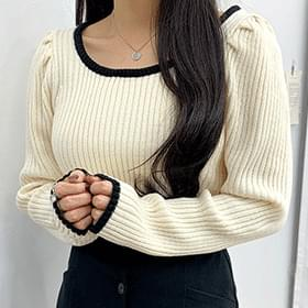 Rain color square knit