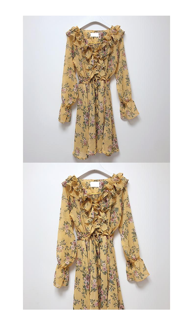 , Same day delivery ♥ ELUI Flower Shirring Dress