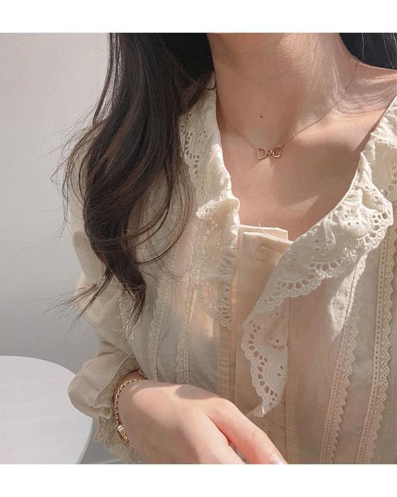 Viola lace blouse-2color