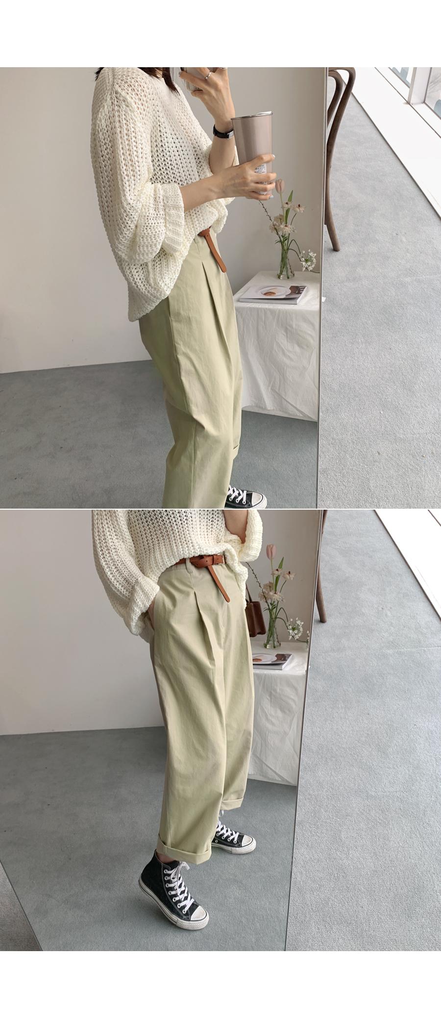 Modern pintuck pants khaki