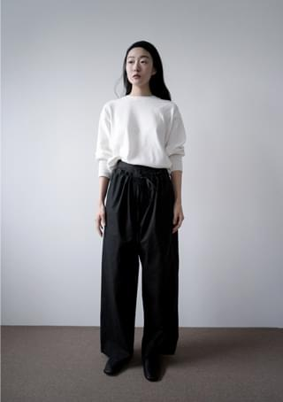 double layered string pants (2colors)