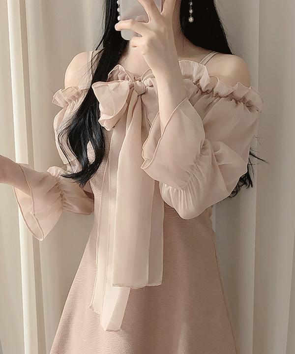 Lilan Ribbon Shoulder Dress
