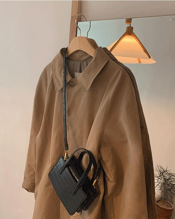 Sand single trench coat