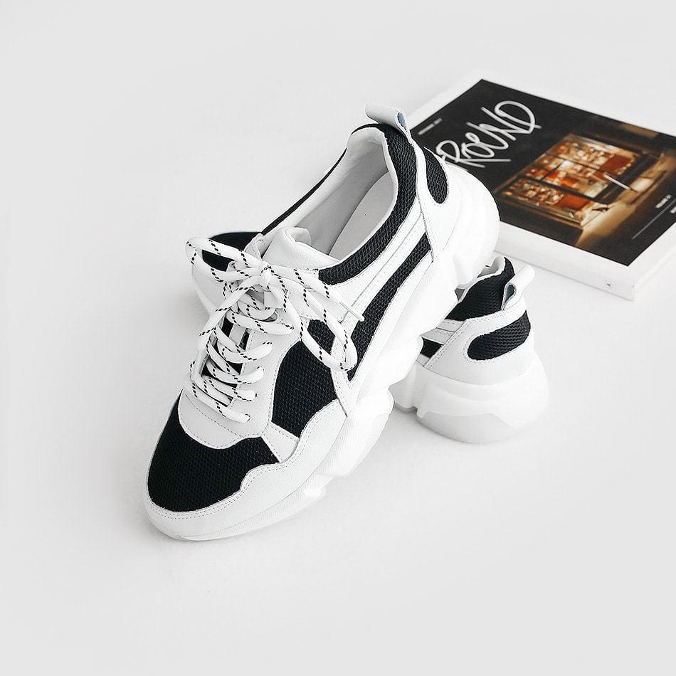 Vitane leather ugly sneakers 4 cm