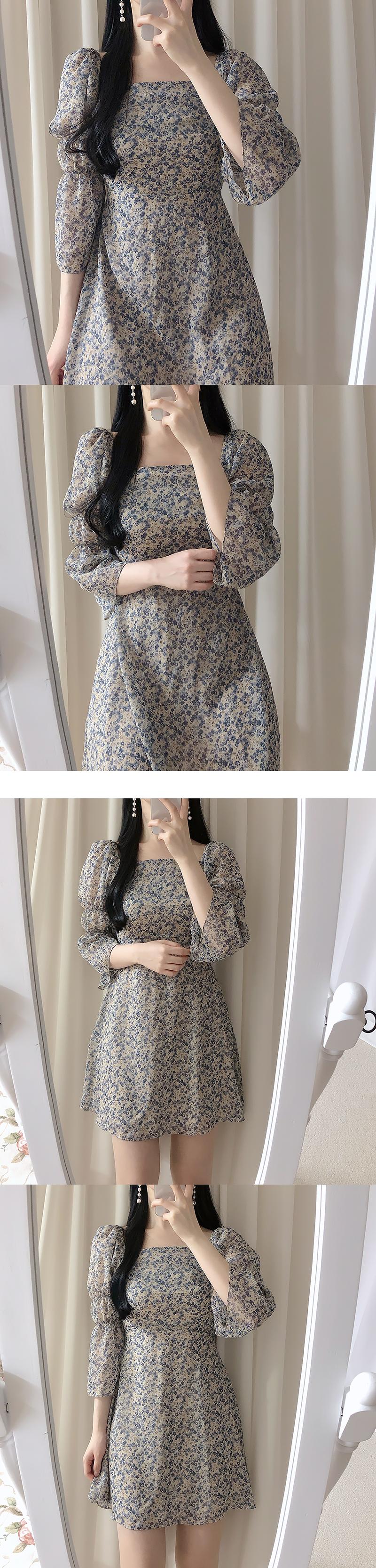 Mir Flower Shoulder Dress
