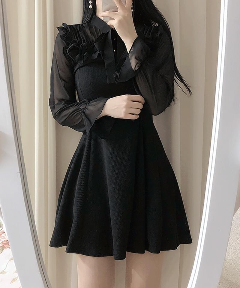 Hemi Frill Ribbon Dress