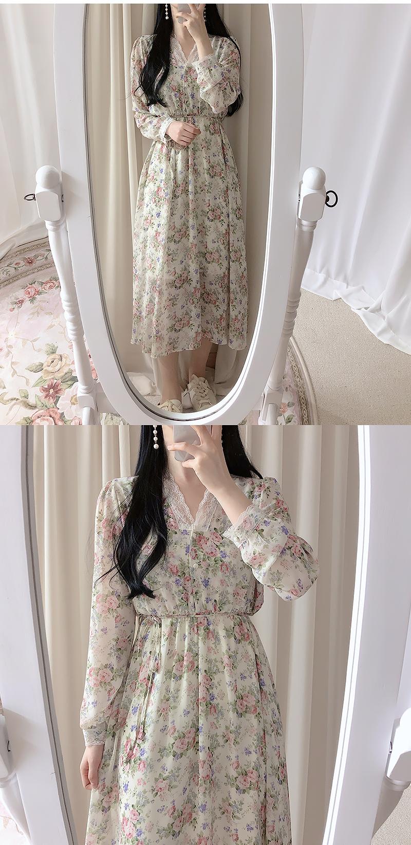 Biele Flower Long Dress