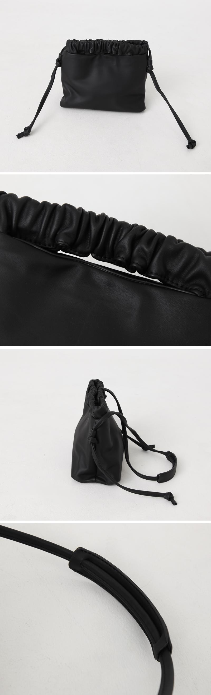 Shirring Point Square Bag