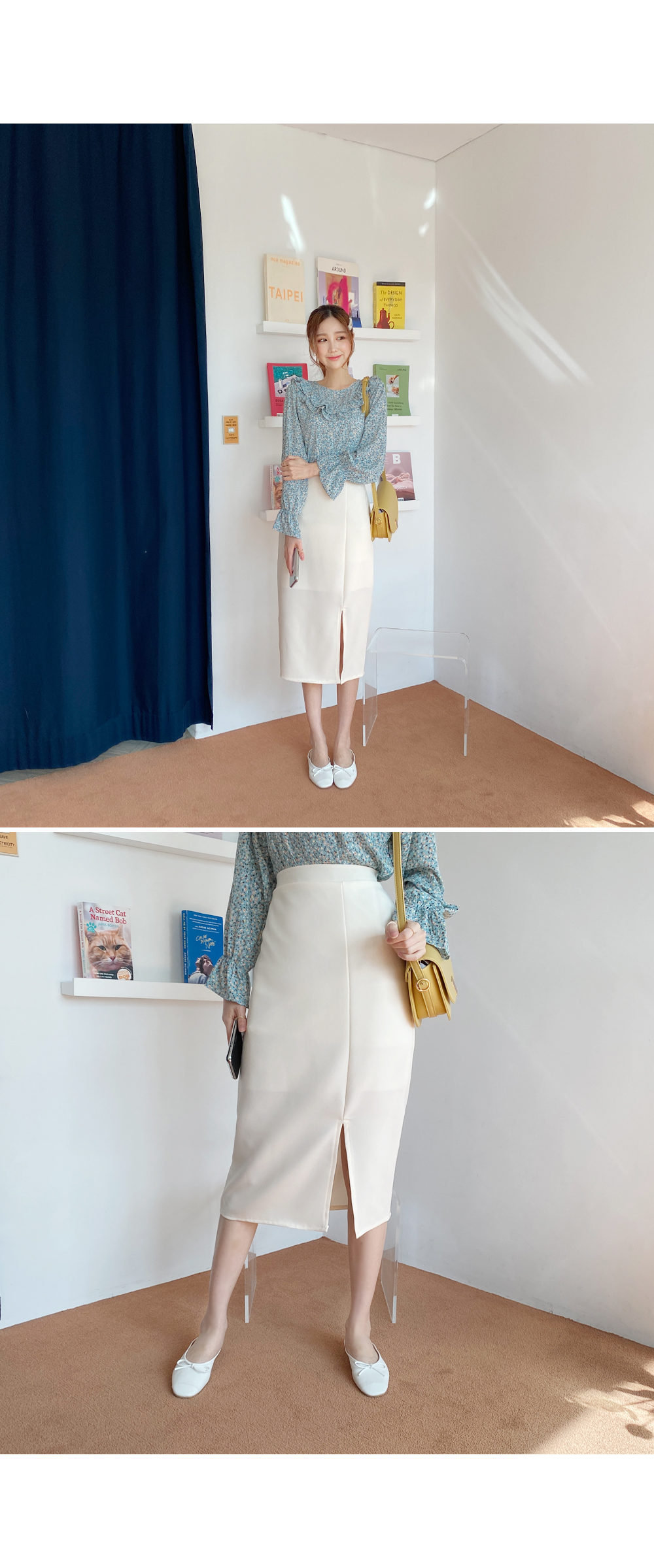 Suddenly coming up skirt