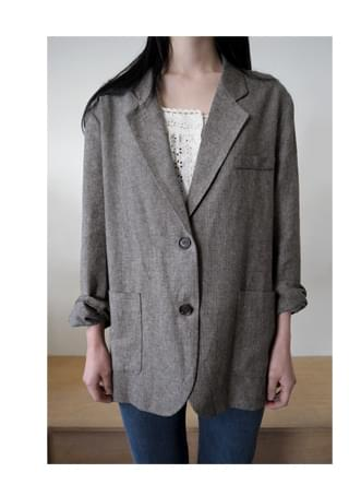 french mood loose-fit jacket (3colors)