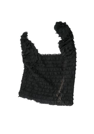 ruffle point shoulder bag