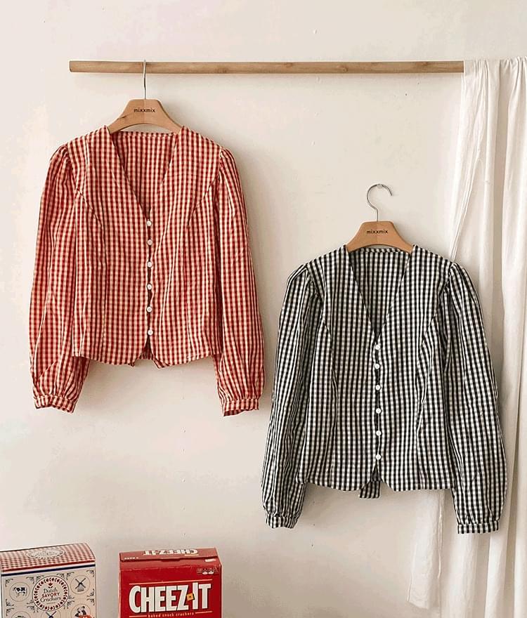 Vero check blouse