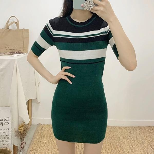 Lomen Stripe 5 Piece Mini Dress 洋裝
